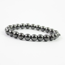 hot sale magnetic 8 mm hematite round beads bracelet wholesale price and free shipping  HB1003