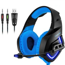 Brand New Gamer Headset Gaming Headphone With Mic Led Light 3.5mm Casque Gaming Earphone Headphone For Computer With Microphone(China)