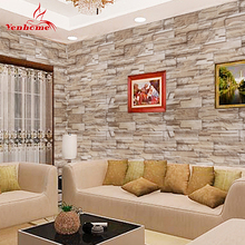 5M Self Adhesive Wall Paper Roll For Wall Rustic Kitchen Living Room TV Background Stone Wallpaper Brick Wall Sticker Home Decor(China)
