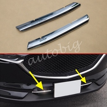 Chrome Grill Strips For Mazda CX-5 2017+ Bumper Air-inlet Grille Trims CX5 2 Generation Accessory