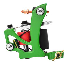 Green Machined Aluminum Alloy Rotary Motor Tattoo Machine Liner Shader Kit SET For Dropshipping WS0082(China)
