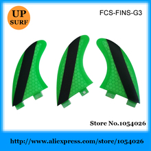 Good Quality FCS G3 Fins surf G3 Fin Green Honeycomb Fins FCS Surfboard Fin S Size