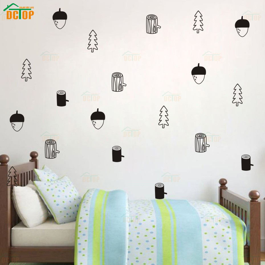 DIY Pine Cone Styling Vinyl Wall Sticker Funny Wall Stickers For Kids Rooms Children Room Decoration Mural Child Stickers (5)