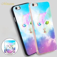 Minason HOP Digital Cat Soft TPU Silicone Phone Case Cover for iPhone X 8 5 SE 5S 6 6S 7 Plus