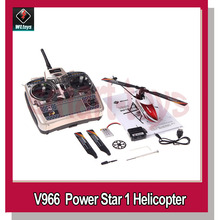 WLtoys V966 Power Star 1 2.4GHz 6CH 3D 6-Axis Gyro Flybarless RC Remote Control Helicopter