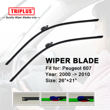 "Upgrade Wiper Blade for Peugeot 607 (2000-2010) 1set 26""+21"",Flat Aero Windscreen Beam Wiper Frameless Soft Wiper Blade"
