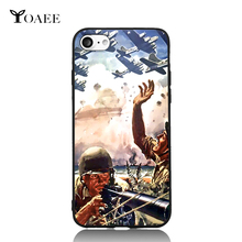 Machine Gun Soldiers WWII Air Battle For iPhone 5 5s SE 6 6s 7 Plus Case TPU Phone Cases Cover Mobile Protection Decor Gift