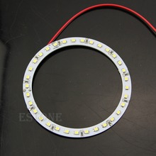 "B86"" Hot 2Pcs Bright White 100mm Angel Eyes 33 SMD LED Ring Car Light(China)"