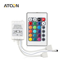 1Pcs 24 Keys Dual Connectors Output IR Remote RGB Controller DC12V 2 Ports Dimmer For 3528 5050 SMD LED Strip light Control