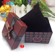 OTOKY Unique  Gift Box Wristwatch Box for Watch Original Watch Box Bow Paper Drop ship F25