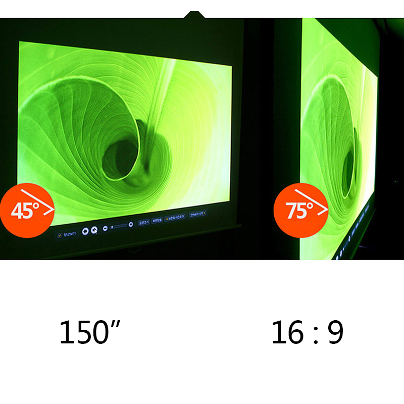 150inch 16:9 Projector Movie Foldable High-definition Screen Portable White Canvas Material for Office Eduction Training Meeting<br><br>Aliexpress