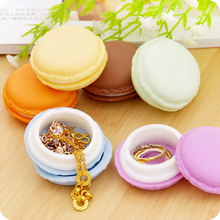 Ice Cream Mini Necklace Ring Jewelry Box Gift Box Jewelry Storage Organizer Round Cute Color Jewelry Holder Randomly Shipping