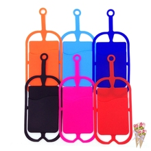 1Pcs colorful Silicone Lanyard Phone Accessories Phone Cases for Holder Sling Necklace Strap(China)
