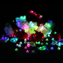 Wholesale 1000 Pcs/Lot Round RGB Mini Led Flashing Ball Lamp White Balloon Lantern Lights for Christmas Party Wedding Decoration(China)