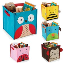Hot sale Cartoon Style Non-Woven Fabric Toys Organizer Storage Box Children's Toy Books Sundries Shoes Clothing Storage Box