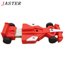 JASTER Racing car shape usb flash drive creative boy's gift, capacity  4G 8G 16G 32G usb flash drive Pendrive F1 automobile
