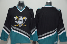 The Mighty Ducks Movie Black White Green Purple Stitched Ice Hockey Jerseys Sewn Camisa