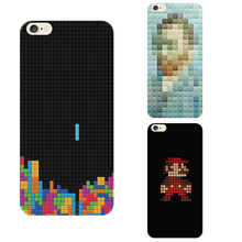 Time Tower Mary Tetris Lattice Composition Phone Cases For Iphone 6s Plus 6 4.7 Inch Tpu Soft Shell Back Cover Housing