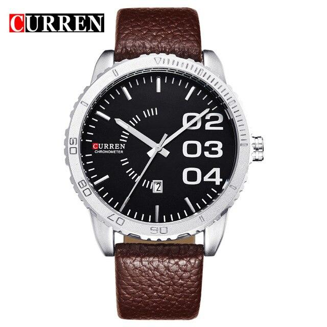 CURREN Men Watch Top Brand Luxury Quartz-Watch Calendar Leather Strap Male Casual Sports Wristatches relogio masculino 8125<br><br>Aliexpress