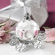 50Pcs Pumpkin Coach Wedding Bridal Shower Favor Engagement Party Gift Favor Choice Crystal Wedding Souvenir For Guests China(China)