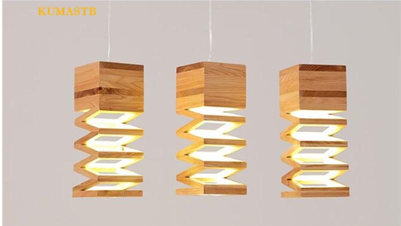 Wood Spring Pendant Lamp 8