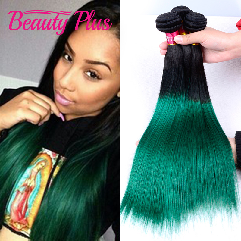7A ombre green peruvian straight hair deep sea green straight human hair teal peruvian virgin hair straight tissage bresilienne<br><br>Aliexpress