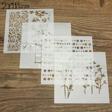 New 1Pcs Mixed Pattern Layering Stencils Template Stamping Decorative Embossing Painting DIY Album Scrapbooking Plastic Crafts