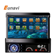 Eunavi Pure android 4.4.4 Universal 1 DIN Car DVD GPS RADIO with Quad core RK WIFI 3G GPS stereo audio Capacitive auto radio