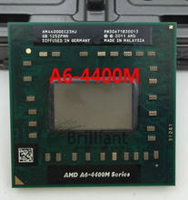 Free shipping for AMD Dual Core A6-4400M 2.7Ghz A6 4400M AM4400DEC23HJ A6-Series notebook CPU PROCESSOR best quality processor