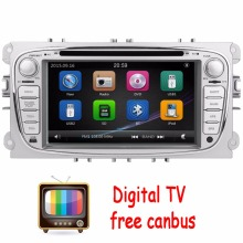 Digital TV 2Din In Dash Car DVD Player FOR Mondeo Focus 2012-2015 Dual Core GPS Navigation Radio Bluebooth USB SD Ipod +CANBUS