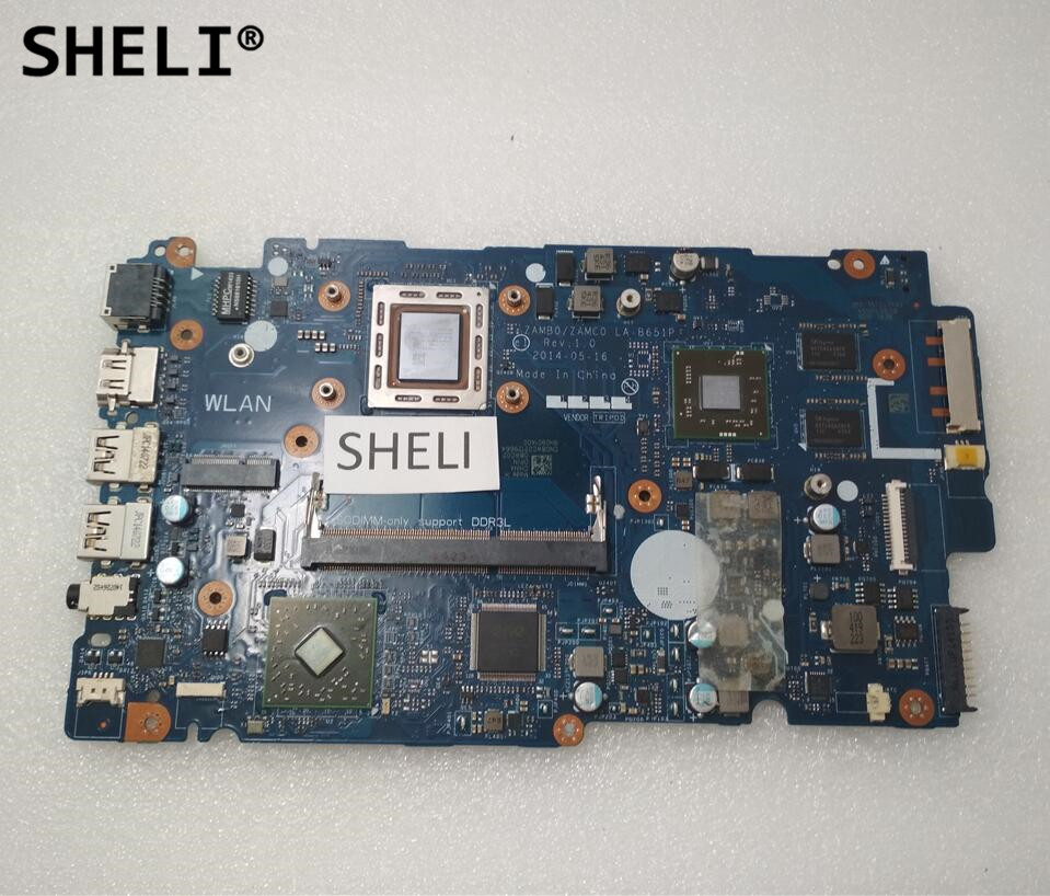 SHELI For DELL 5545 5445 Motherboard with A8-7100 cpu LA-B651P CN-08WC02 08WC02 8WC02