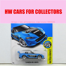 2017 Hot Wheels 1:64 Blue 15 Mazda Mx5 Miata Metal Diecast Car Models Collection Kids Toys Vehicle For Children Juguetes(China)