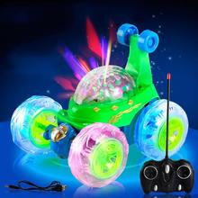 LED Flash Music Remotel Control Car Toys Truck Toys 360 Degree Dump Truck Music Flash Truck Car Models For Children(China (Mainland))