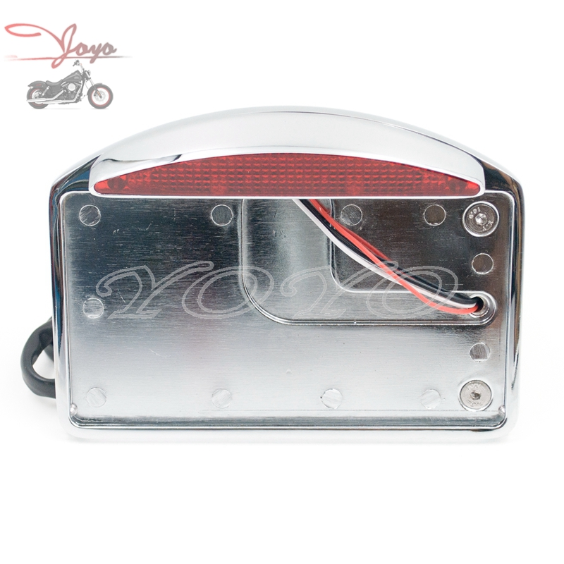 Chrome Plate Motorcycle Side Mount Tail Light Axle Chopper License Plate Bracket For Harley Davidson<br><br>Aliexpress