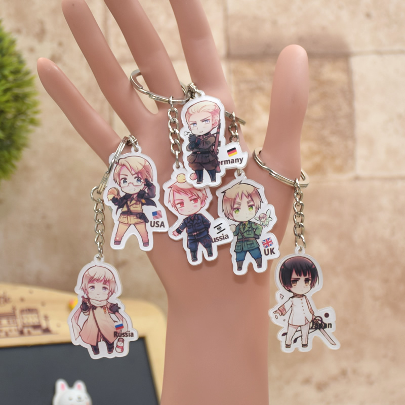 Axis Powers acrylic Keychain Action Figure Pendant Car Key Chain Key Accessories  Cute Japanese  Anime  Collection HTLY001 LTX1<br><br>Aliexpress