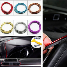 5M Car-Styling Auto Interior Moulding Decoration Thread Insert Type DIY Air Outlet Dashboard Accessories Brand Strip Car Styling