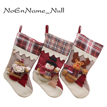Creative Large Christmas Stockings Gifts High Grade Cloth Art The Old Hang Xmas Gift Decoration For Tree Festive Party Supplies(China)