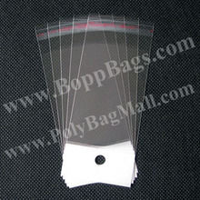 "4.5"" width by 12"" to 24"" mixed length clear poly hair packaging bags for extensions weave opp plastic bags"