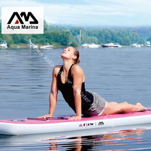 pink white 300*81*15CM AQUA MARINA YOGA board excercise inflatable sup stand up paddle board surf board
