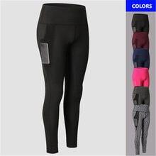 Nouveau Femmes De Yoga Pantalon Poche Filet Taille Haute Respirant  Polyester Jambières de Remise En Forme 579aea40fa0