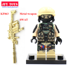 Single sale KF063 one piece SWAT military Falcon Commandoos building blocks baby kids bricks toys for children