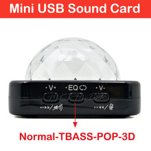 New Colorful LED Lighting EQ 3D Function External Audio Interface Card for Laptop Desktop Tablet PlayStation USB Sound Card