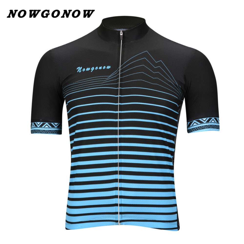 can custom men 2017 cycling jersey Cartoon blue black clothing bike wear NOWGONOW racing road mountain cool maillot outdoor boy(China (Mainland))