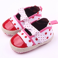 New Fashion Plain Baby Girl Dress Shoes Fancy Infant First Walk Princess Shoes Leather PU Kids Toddler Shoes 0-15 Months(China)