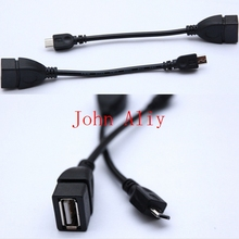 Wholesale Micro USB Host Cable OTG 5pin mini usb cable for tablet pc mobile phone mp4 mp5 Smart Phone(China)