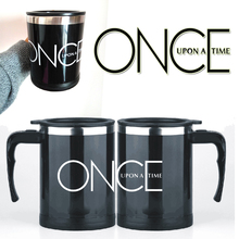 2 style-Once upon a time Coffee Mug Stainless Steel Electric mixer Automatic Coffee Mixing Drinking Cup best gift for friends