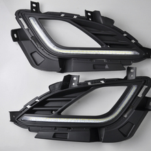 High quality For High bright&Best Quality 2012-2016 Hyundai Elantra LED Daytime Running Light (DRL) Fog light with turn sign