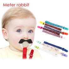 new cartoon Baby Pacifier Clips Chain ribbon Funny Dummy Nipple Belt Teether Pacifier Holder Clip For Baby feeding Soother Chain(China)