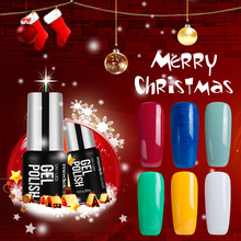Modelone Hot Christmas Color Series UV Nail Gel Polish Long Lasting Red Color UV Gel Polish Soak Off Glitter Nail Polish 7ML