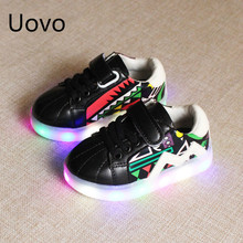 Wholesale Children's Shoes and Girls Led Tax Facial Luminous Shoes Sports Small White Shoes Anti Slip New Type of Of 21-30 YXX(China)